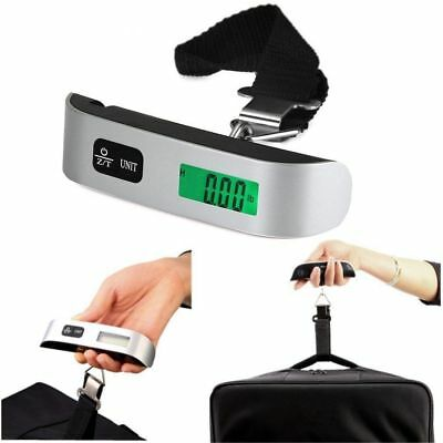 Portable LCD Digital Travel Luggage Scale Hook Hanging Weight 110lb/50kg USA