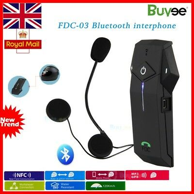 BT 1000M NFC Bluetooth Motorbike Motorcycle Helmet Interphone Intercom Headset