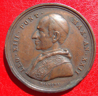 1900 Pope Leo Xiii  Vatican Celebration Rare Medal For Jubilee Year