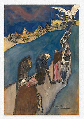 Pablo Picasso The End of the Road 50x34cm STAMPA TELA CANVAS PRINT TOILE LIENZO