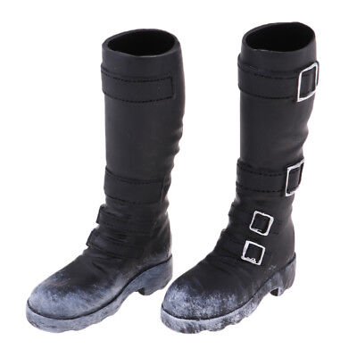 1/6 Scale Man Black Long Boots for 12'' Action Figure Phicen Kumik Hot Toys