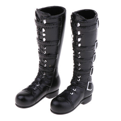 1/6 Black Mid-calf Knee Boots for 12'' Action Female Figure Phicen Kumik Toy