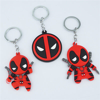 Marvel Deadpool Keychain Keyring Rubber Dolls Pendant Backpack ornaments Gift