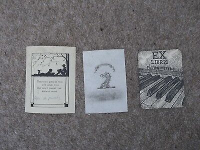 Three Book plates - collectable