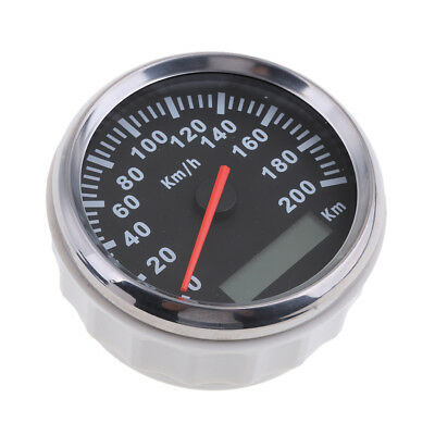 85mm Waterproof Speedometer Gauge 200KM/H for Car Motorcycle