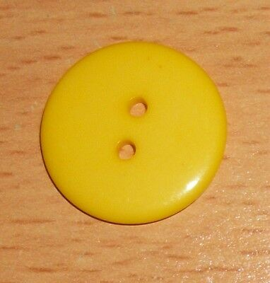 Pack of 50 Yellow 23mm Flatback 2 hole Resin Buttons B11412