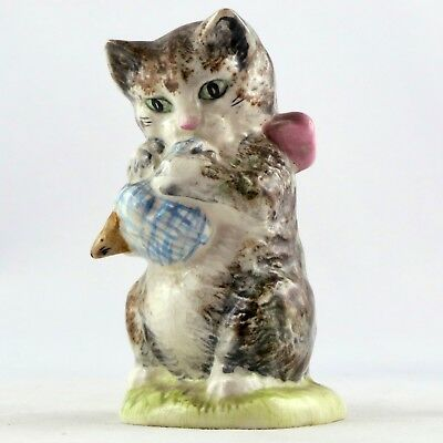 "Sujet CHAT ""Miss Moppet"" Faïence BEATRIX POTTERS England Pottery/cat figurine..."
