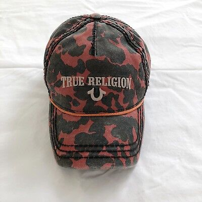 4c20ccfb213 True Religion Brand Jeans Camo Baseball Hat Cap New With Tags Style TR1798
