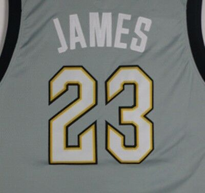 Men s Cleveland Cavaliers  23 LeBron James New Season City Edition Gray  Jersey d3f1201b7