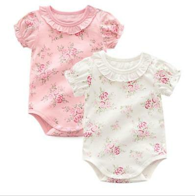 1pc Newborn infant summer clothes girls bodysuit baby soft cotton jumpers floral