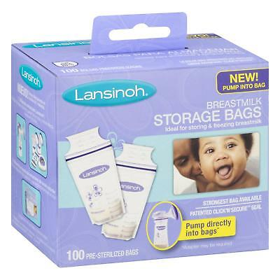 Lansinoh Tmilk Storage Bags Disposable Food Baby Feeding Supply 100 Ct