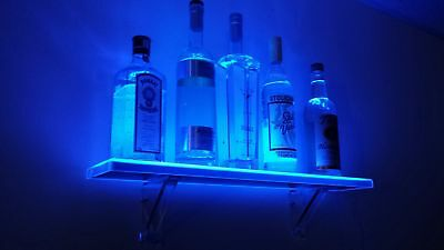 Armana Productions 4 Foot Wall Mount LED Liquor Shelf - Made in the USA -