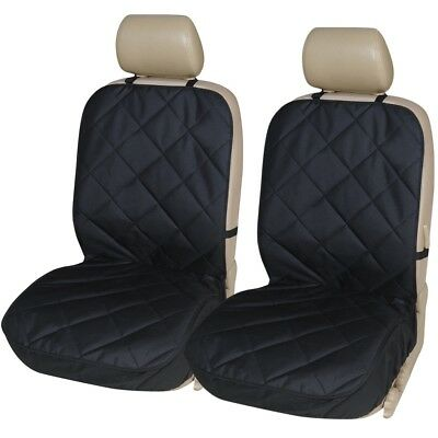 QUILTED BLACK FRONT SEAT COVERS 1+1 for VAUXHALL AGILA (09-11)