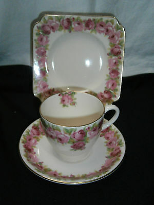 Vintage Royal Doulton Raby Rose Cup Saucer & Plate Trio For High Teas