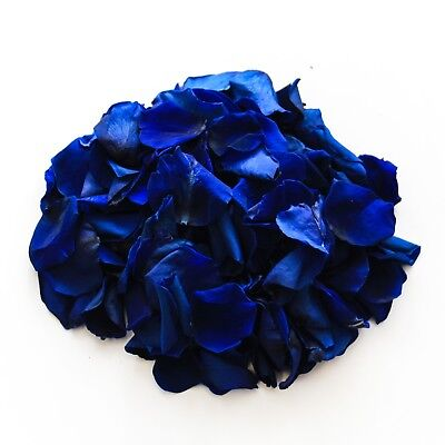 Navy natural biodegradable rose petals for wedding confetti / decoration