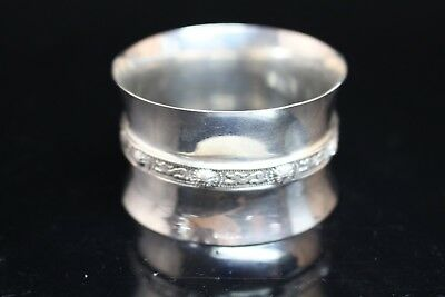 Vintage Signed Sterling Silver 925 Napkin Ring England Hallmarks Serpent Decor