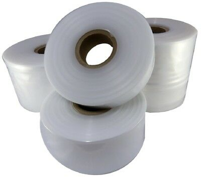 "2 Rolls Of Large 22"" Wide Strong Clear Polythene Layflat Tubing - 168 Metres Per"