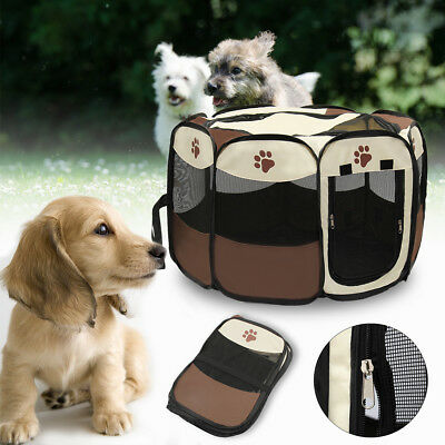 Pet Dog Cat Playpen Tent Portable Exercise Fence Outdoor Kennel Cage Crate Bag