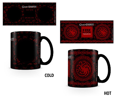 OFFICIAL Game of Thrones House Targaryen Heat Changing Mug BY PYRAMID SCMG24715