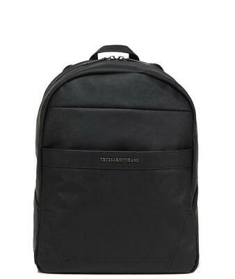 c0a6fc89d6 ZAINO Trussardi Jeans new york saffiano backpack BLACK 71B000331Y000058.K299