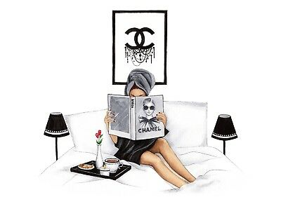 Art Print Poster / CHANEL VOGUE FASHION ILLUSTRATION ART POSTER WALL ART