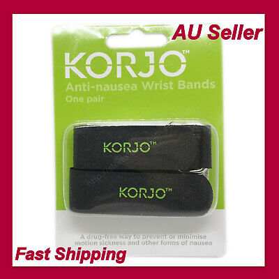 2X Anti Nausea Travel Sickness Band, Korjo Motion Sea Plane Car Sick Wristband