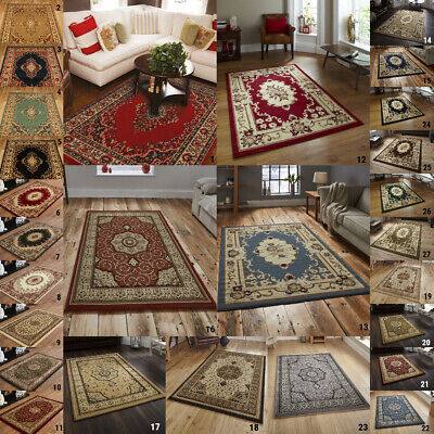 SMALL to X-LARGE TRADITIONAL RUGS THICK HIGH DENSITY HEATSET ORIENTAL FLAIR RUGS