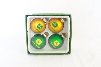 John Deere Christmas Ornaments Green and Gold
