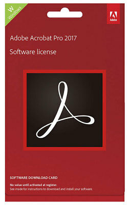 New Adobe - Acrobat Pro DC 17 Windows - Commercial Edition - Digital Delivery