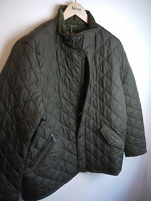 Barbour Men's Chelsea Sports Quilt Jacket, Olive Green, XL, New With Tags