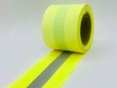 "Reflective 2"" Sew-On Yellow or Orange Fabric Vest Trim sold per yard"