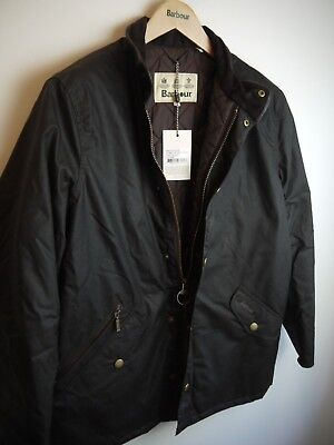 Barbour Mens Prestbury Wax Jacket, New With Tags, Rustic Brown, Large