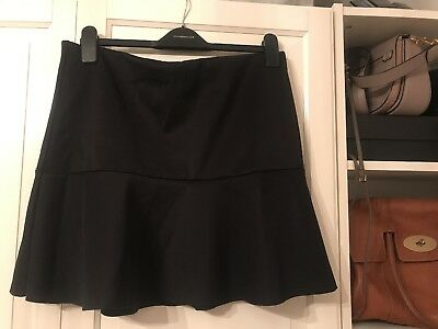 64a745804a BNWT BLACK FRILL Flare Short Skirt, H&M, Size large, Fit 12/14 ...
