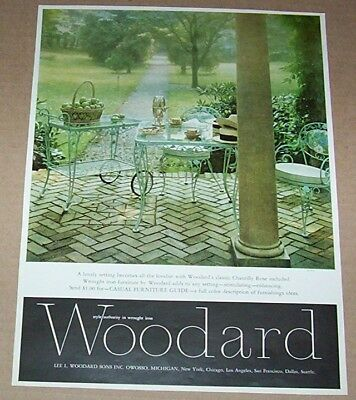 1968 print ad - Lee Woodard Sons patio wrought iron furniture Owosso Michigan