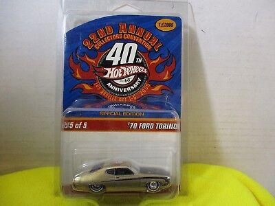 Hot Wheels 22Nd Annual Collectors Convention 1970 Ford Torino W/ Protecto