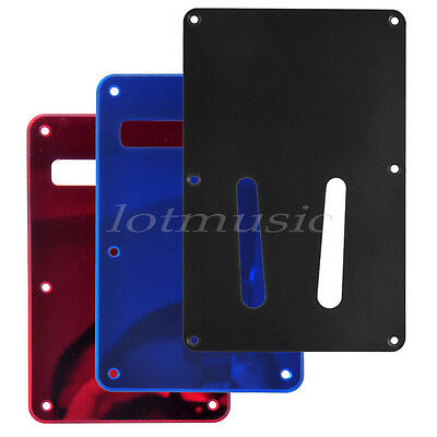 3Pcs Different Color Back Plate Tremolo Cavity Cover for Fender ST Replacement