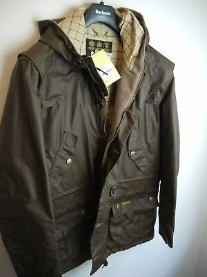 Barbour Mens Sedgemoor Wax Jacket, New With Tags, XL, Brown