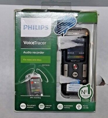 Philips VoiceTracer Digital Audio Recorder for Notes and Ideas DVT2510 Black