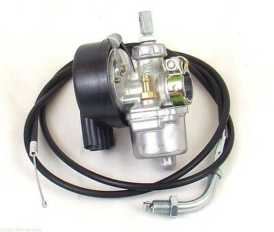 Carburetor W/ Throttle Cable For 49cc to 80cc 2 Stroke Engine Motorized Bicycle