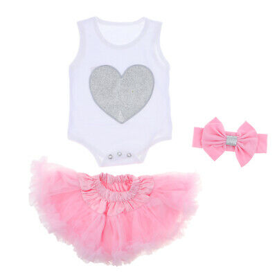 5ecd38bb48d Cute Rompers Skirt Headband Suit for 22-23inch Reborn Baby Girl Doll Clothes