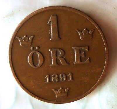 FREE SHIPPING BIN #GGG 1921 SWEDEN ORE High Quality Early Date Coin AU