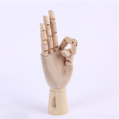 Wooden Hand Model Sketching Drawing Jointed Movable Fingers Mannequin FO