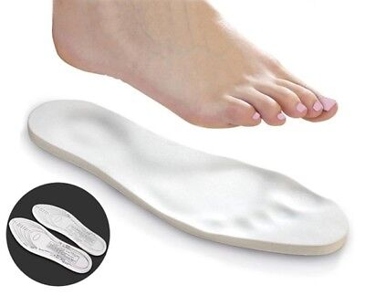 2 Pairs: Unisex Memory Foam Insoles with Arch Support and Cut-To-Fit Size Templa