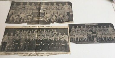 3 x Liverpool FC - Team Picture - 1948-49 - Removed from the Liverpool Echo