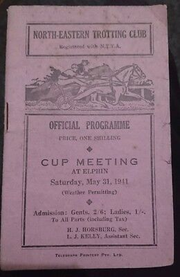 1941 North Eastern Trotting Club Cup Race Book (Phar Lap)