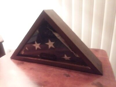 Hand crafted Custom made  Flag Box for standard burial flag size  $80.00+ship