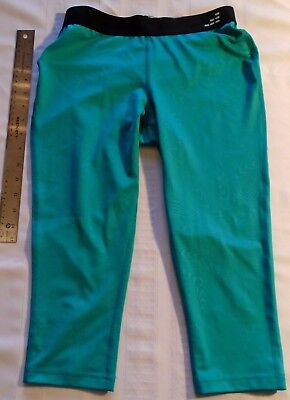 "8d4740d02c7 BCG Athletic Women s   Girl s YOGA Capri Leggings Size S 24"" W Elastic Band  Teal"