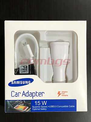 NEW Original OEM Samsung Galaxy S7 S6 Note 4 5 Adaptive Fast Rapid Car Charger
