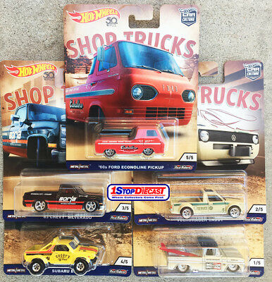 Hot Wheels Car Culture Shop Trucks Sealed Case Of 10 Fpy86-956D  - Shipping Now