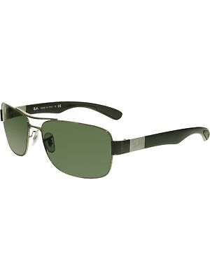 a93feae4fa RAY-BAN MEN S RB3522 RB3522-004 71-61 Silver Rectangle Sunglasses ...